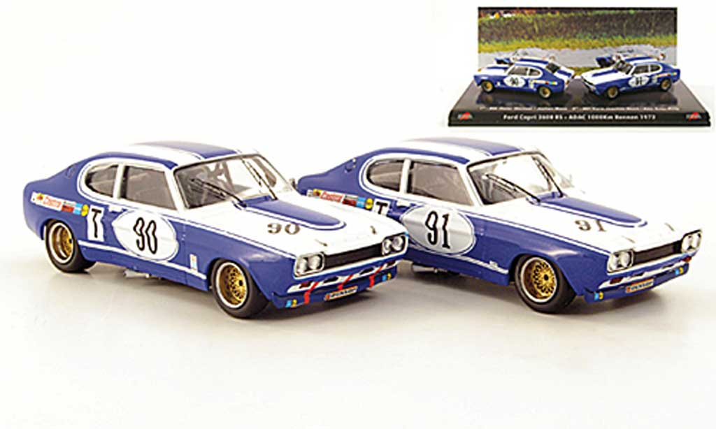 Ford Capri 2600 1/43 Trofeu 2er Set: MKI  No.90 und No.91 ADAC 1000 Km Rennen 1972 miniatura