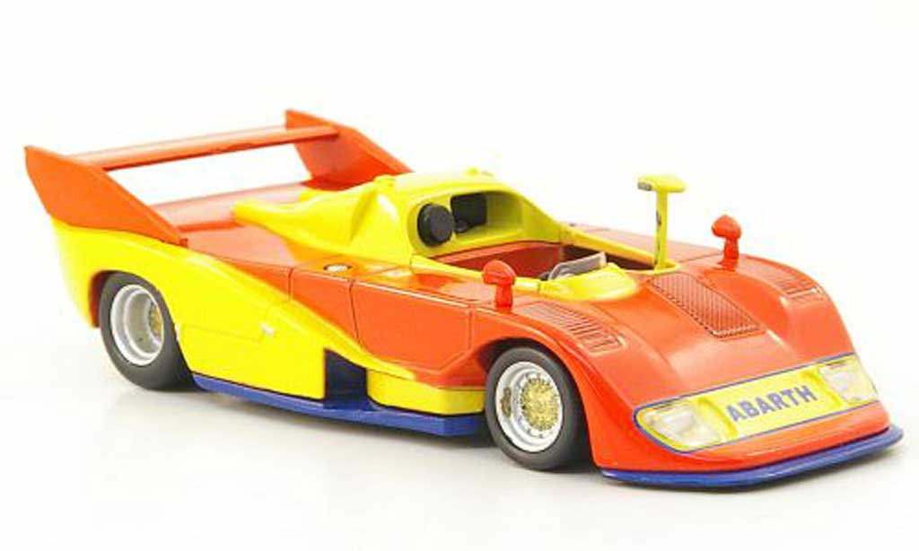 Abarth 2000 Sport Spider 1/43 Hachette (SE027) orange/jaune/bleu 1974 miniature