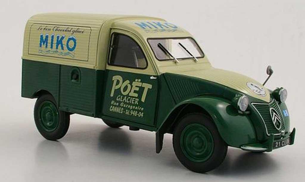 Citroen 2CV 1/18 Norev Fourgonnette Miko 1952 diecast