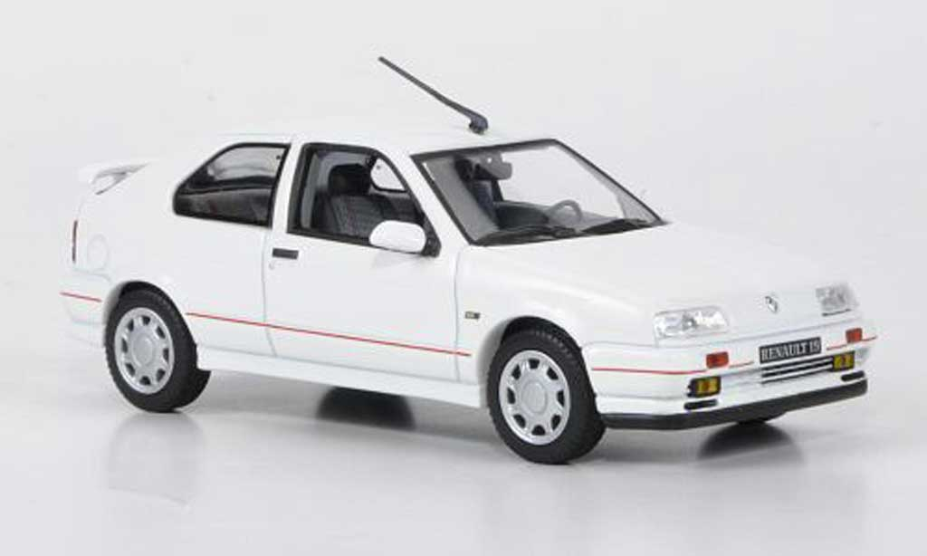 Renault 19 16S 1/43 Norev blanche 3-portes 1990 miniature