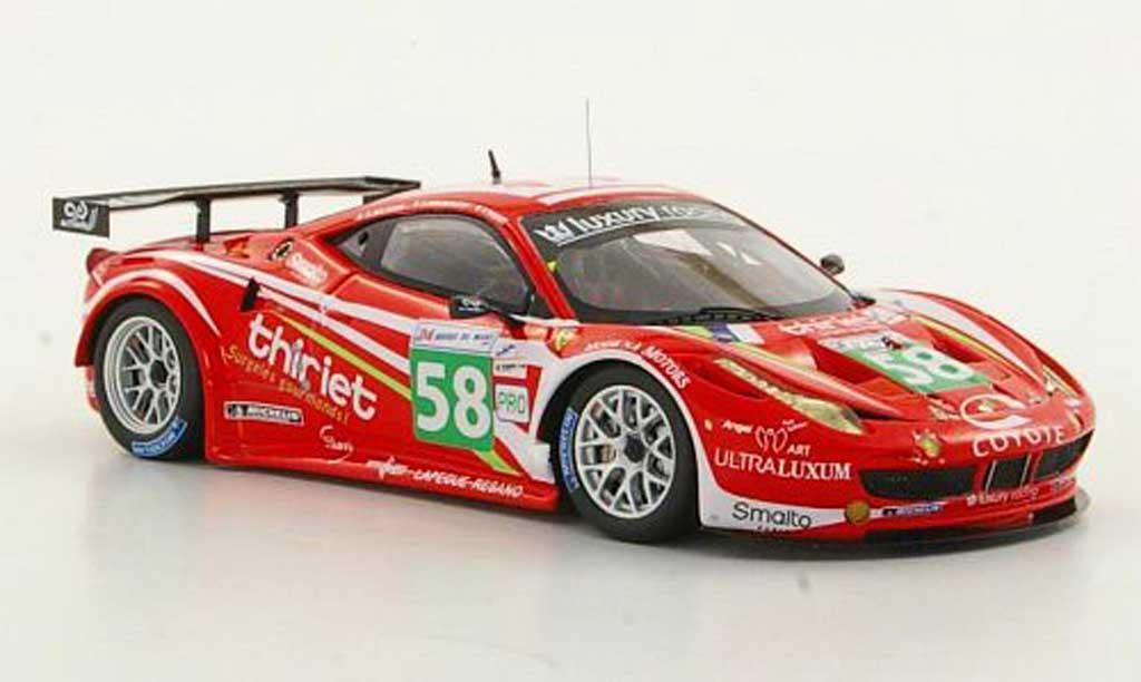 Ferrari 458 Italia GT2 1/43 Fujimi No.58 Team Luxury Racing A.Beltoise / P.Thiriet / F.Jakubowski 24h Le Mans 2011 miniature
