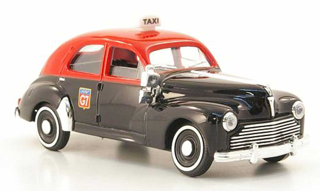 Peugeot 203 Berline 1/43 Solido Taxi black/red 1954