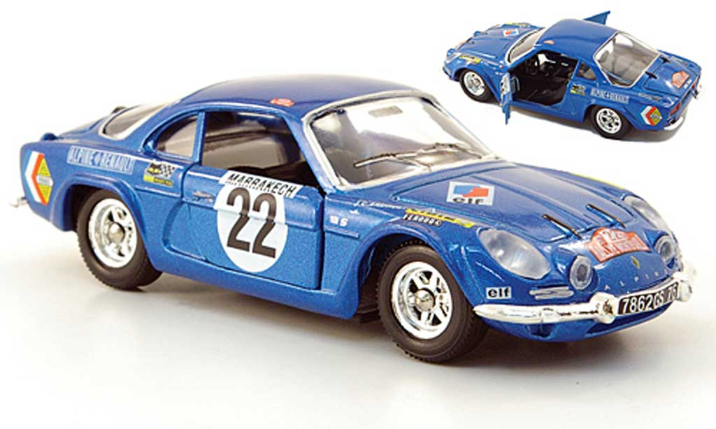 Alpine A110 1/43 Solido No.22 Rally Monte Carlo 1971 diecast model cars