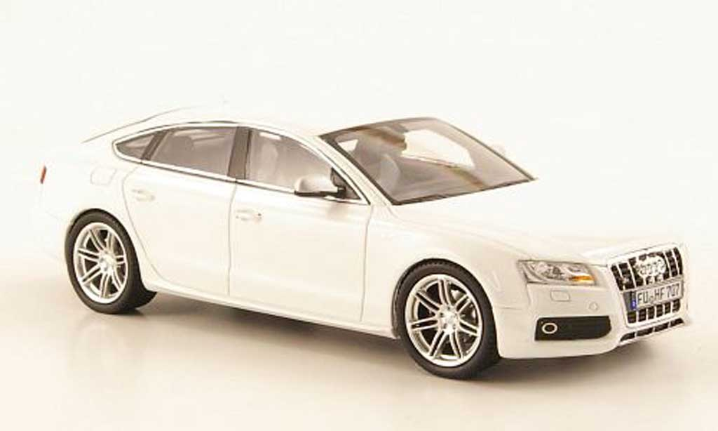 Audi S5 1/43 Schuco Sportback blanche miniature