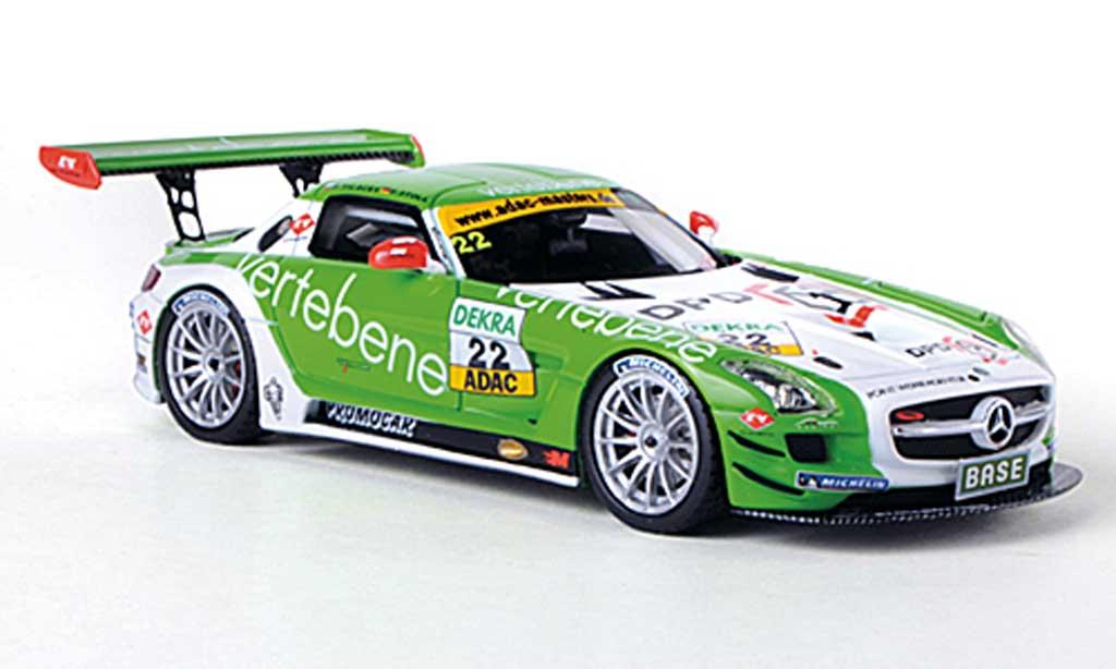 Mercedes SLS 1/43 Schuco AMG GT3 No.22 Vertebene - MS Racing D.Sigacev / F.Stoll ADAC GT Masters-Saison 2011 miniature