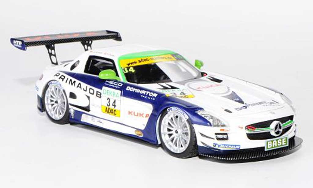 Mercedes SLS 1/43 Schuco AMG GT3 No.34 Primajob Team Heico L.D.Arnold / A.Zuber ADAC GT Masters-Saison 2011 miniature