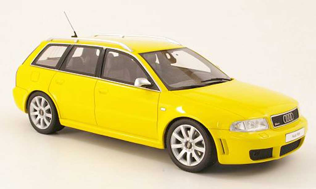 Audi RS4 1/18 Ottomobile avant jaune miniature