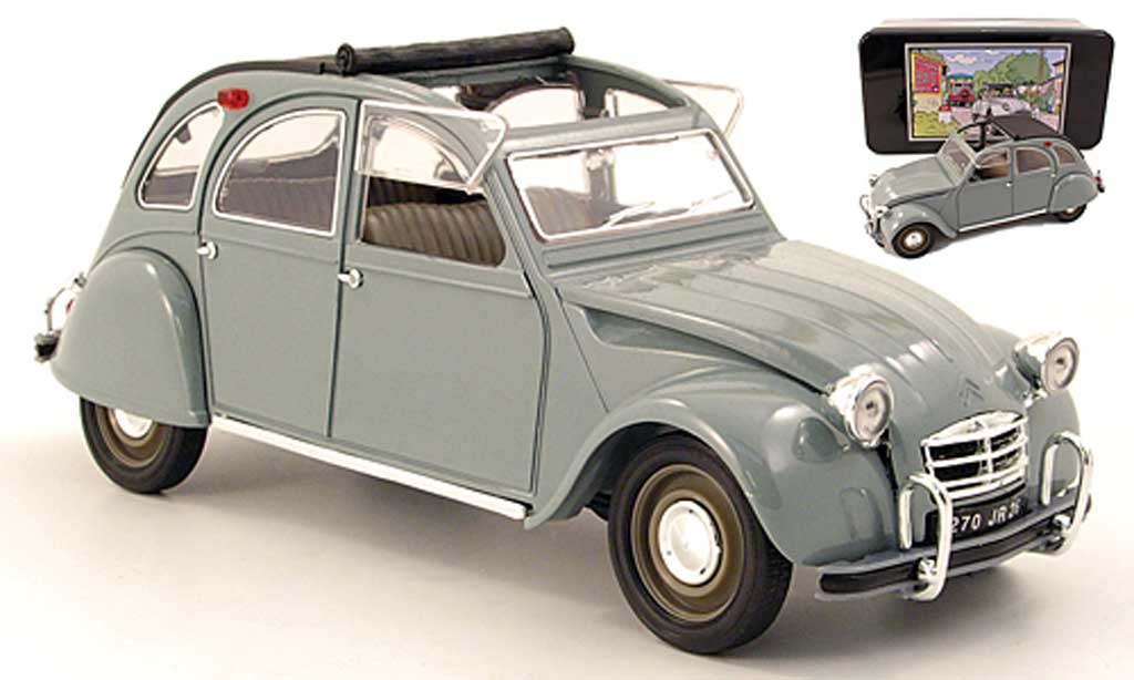 Citroen 2CV 1/18 Solido grise 1966 miniature