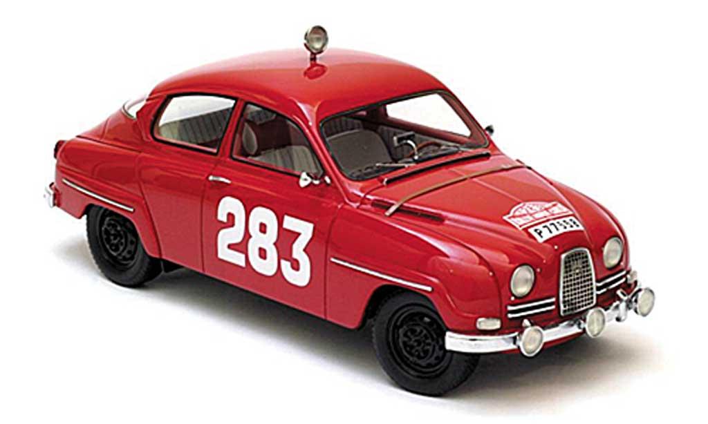 Saab 96 1/18 Neo No283 Carlsson/Palm Rally Monte Carlo 1963 miniature