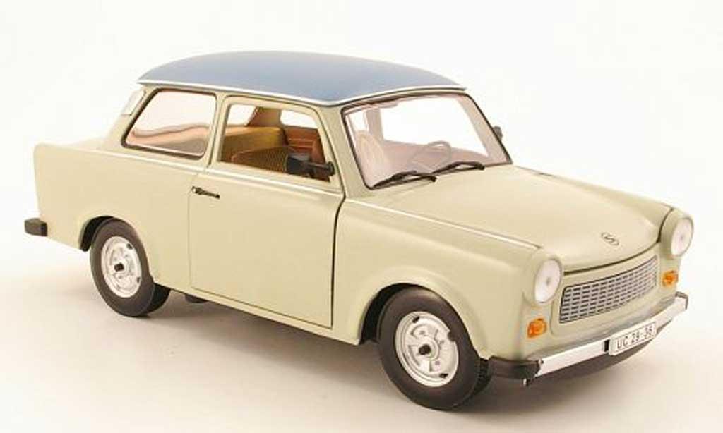 Trabant 601 de luxe 1/18 Sun Star de luxe grise beige/grise bleu miniature