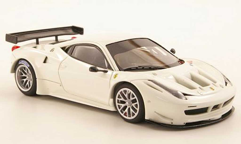 Ferrari 458 Italia GT2 1/43 Look Smart blanche Plain Body Version miniature