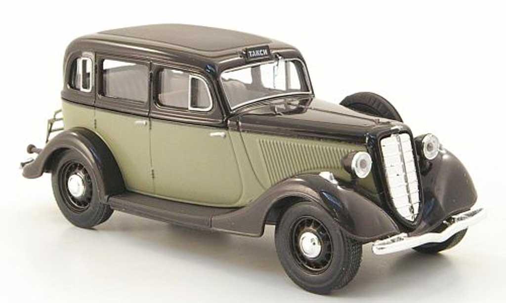 Gaz M1 Taxi 1/43 Nash Avtoprom noire/grise miniature