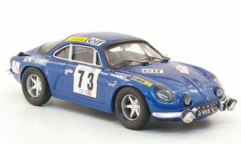 Alpine A110 1/43 Trofeu No.73 Darniche/Mahe Rally Portugal 1972 diecast model cars