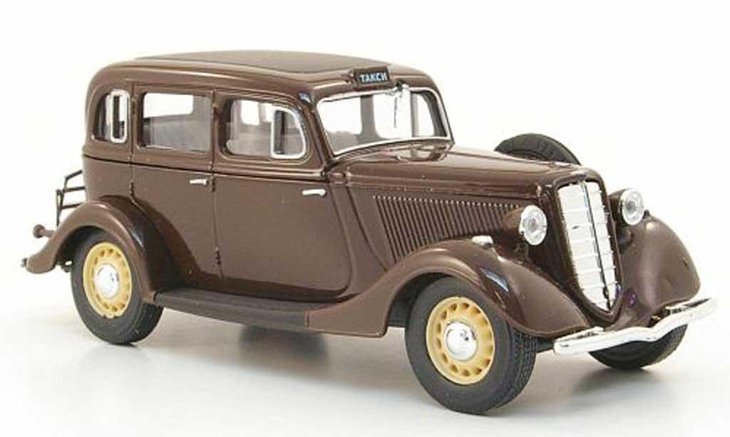 Gaz M1 Taxi 1/43 Nash Avtoprom marron miniature