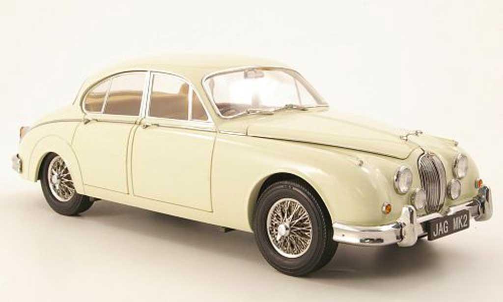 Jaguar MK 2 1/18 Model Icons 3.8 blanche rhd 196 miniature