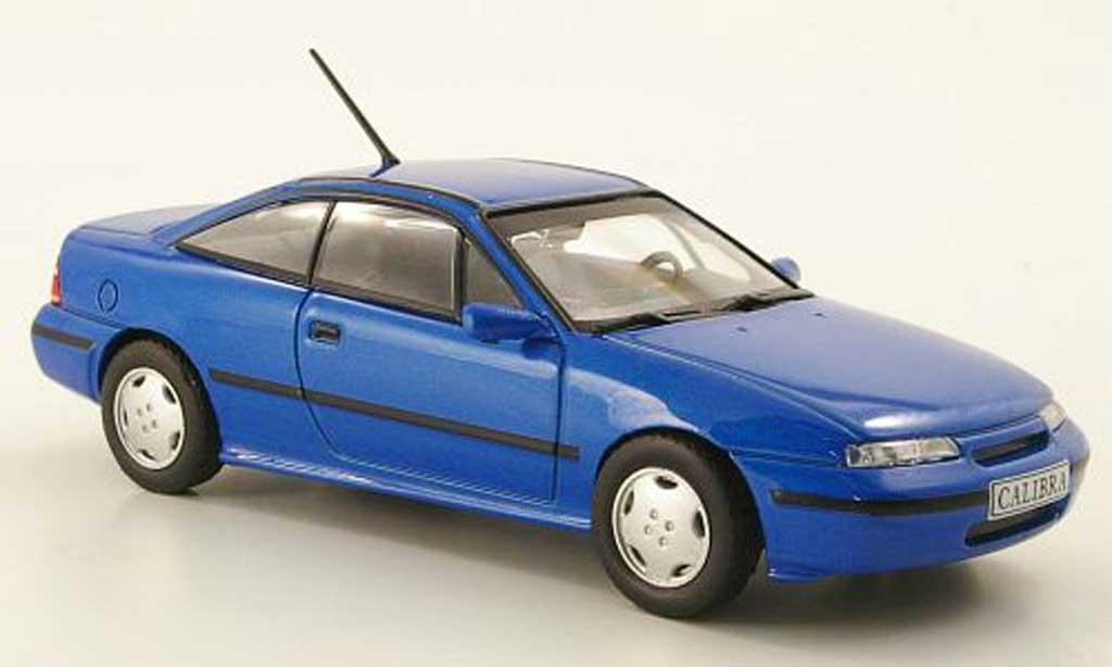 Opel Calibra 1/43 Hachette V6 bleu (ohne Magazin) 1993 modellino in miniatura