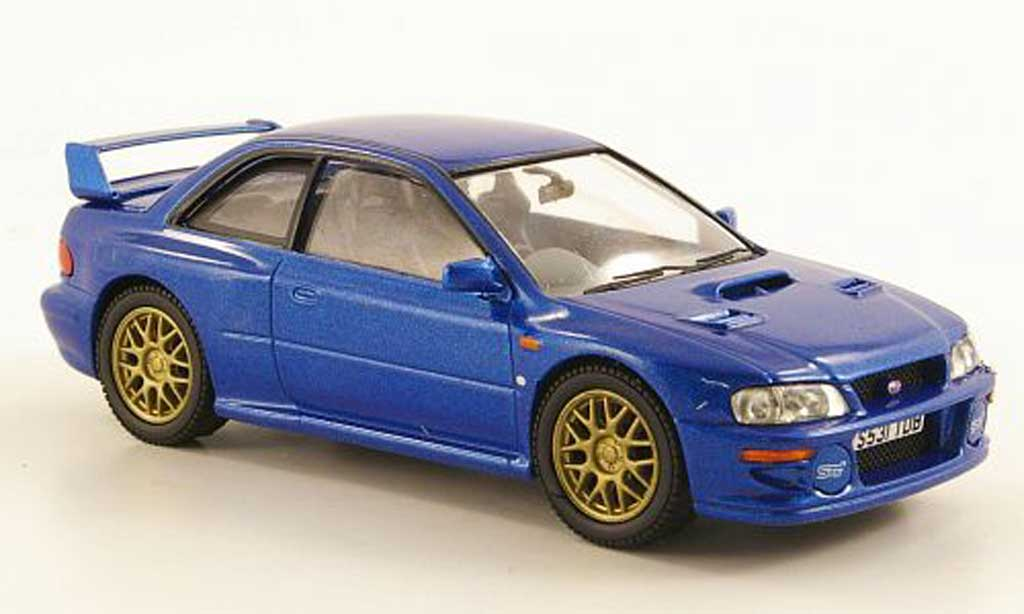 Subaru Impreza 22B 1/43 Vanguards STi Coupe bleu miniature