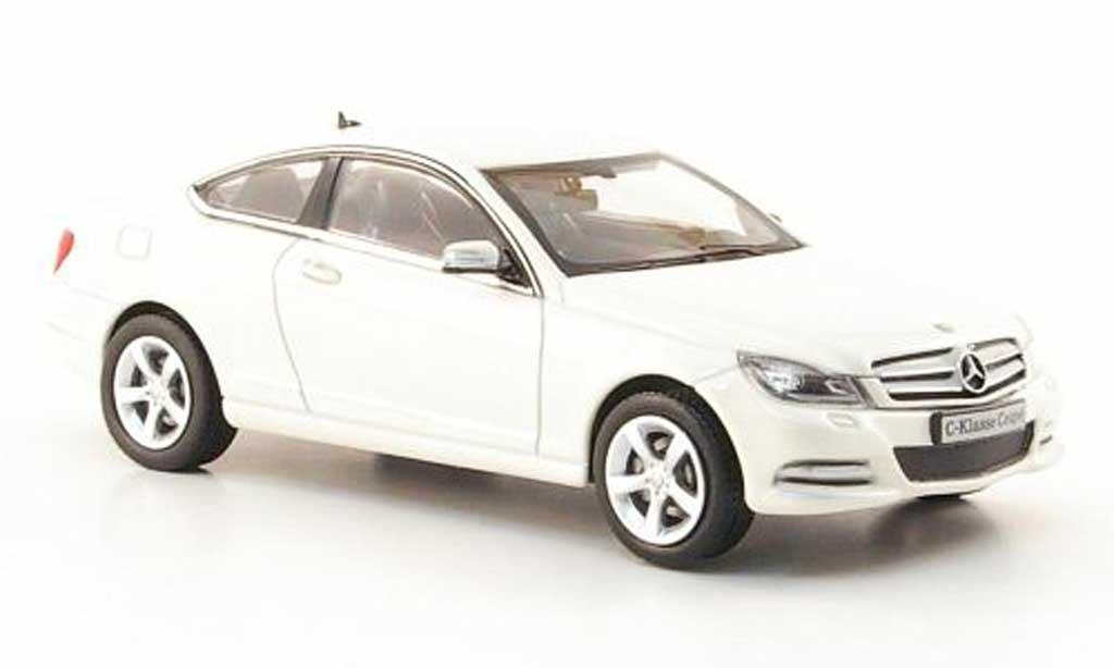 Mercedes Classe C 1/43 Norev Coupe (C204) bianco 2011 modellino in miniatura