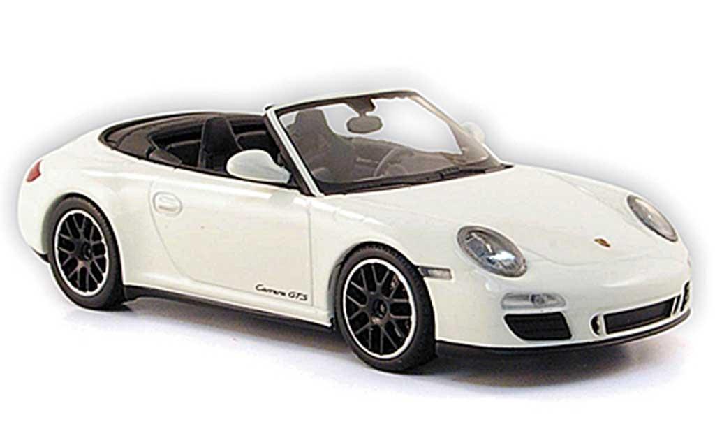 Porsche 997 GTS 1/43 Minichamps Carrera Cabriolet blanche 2011 miniature