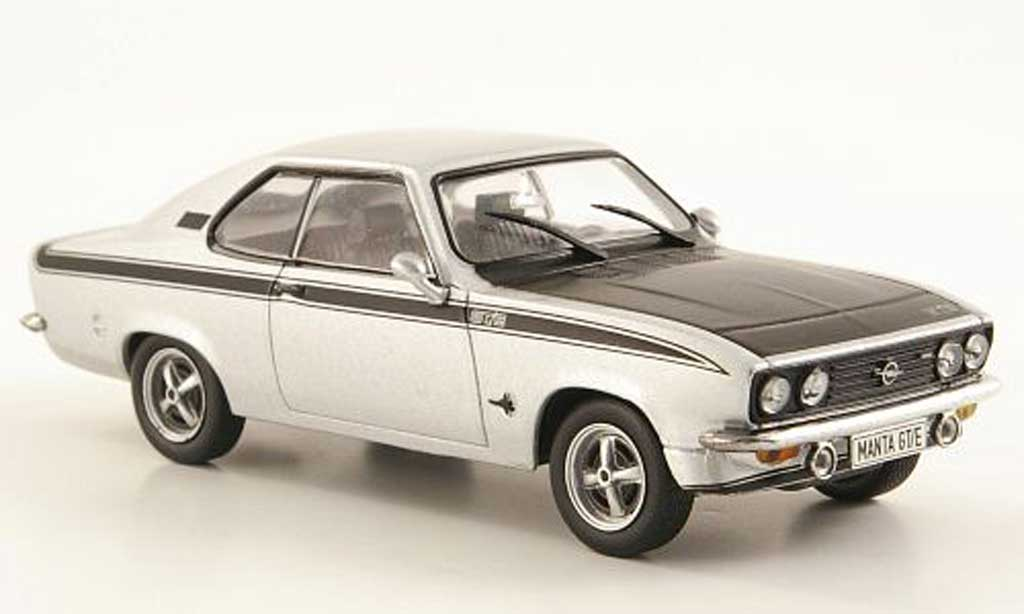 Opel Manta A 1/43 Hachette GT/E grey /black (ohne Magazin) 1974 diecast model cars