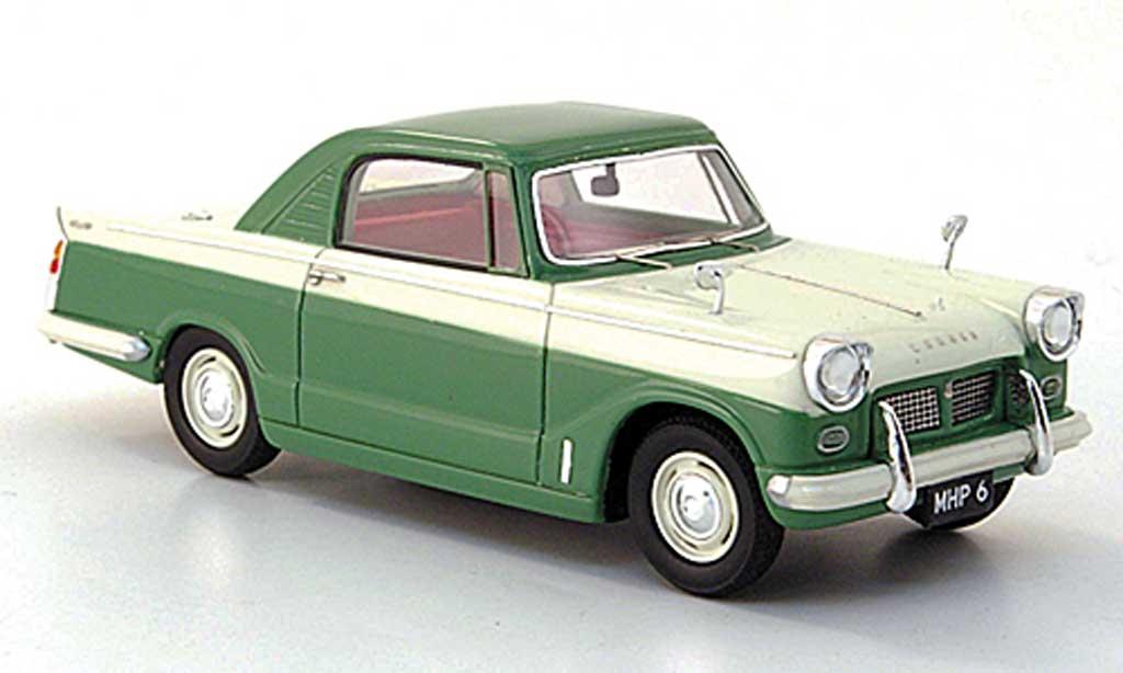 Triumph Herald 1/43 Silas Models 1200 Coupe verte/blanche 1963 miniature