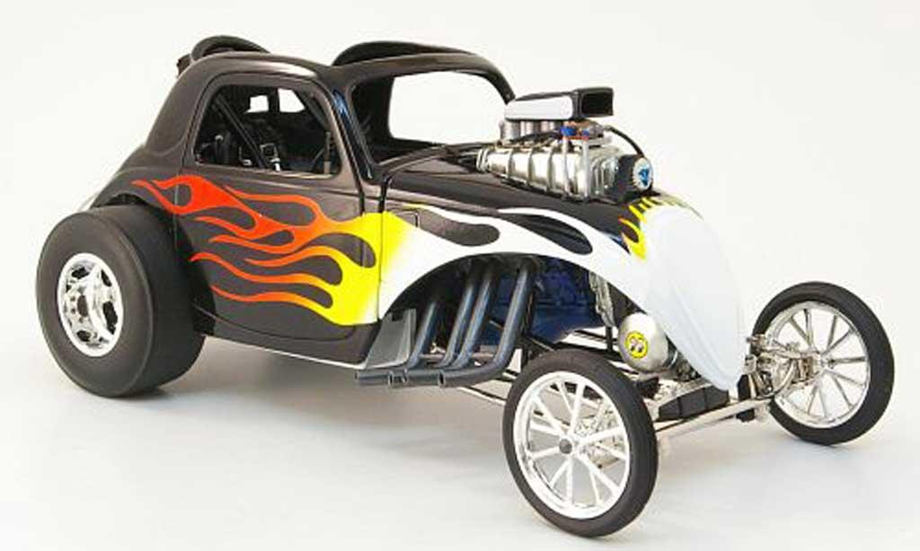 Fiat 500 1/18 GMP topolino black mit flammendekor diecast