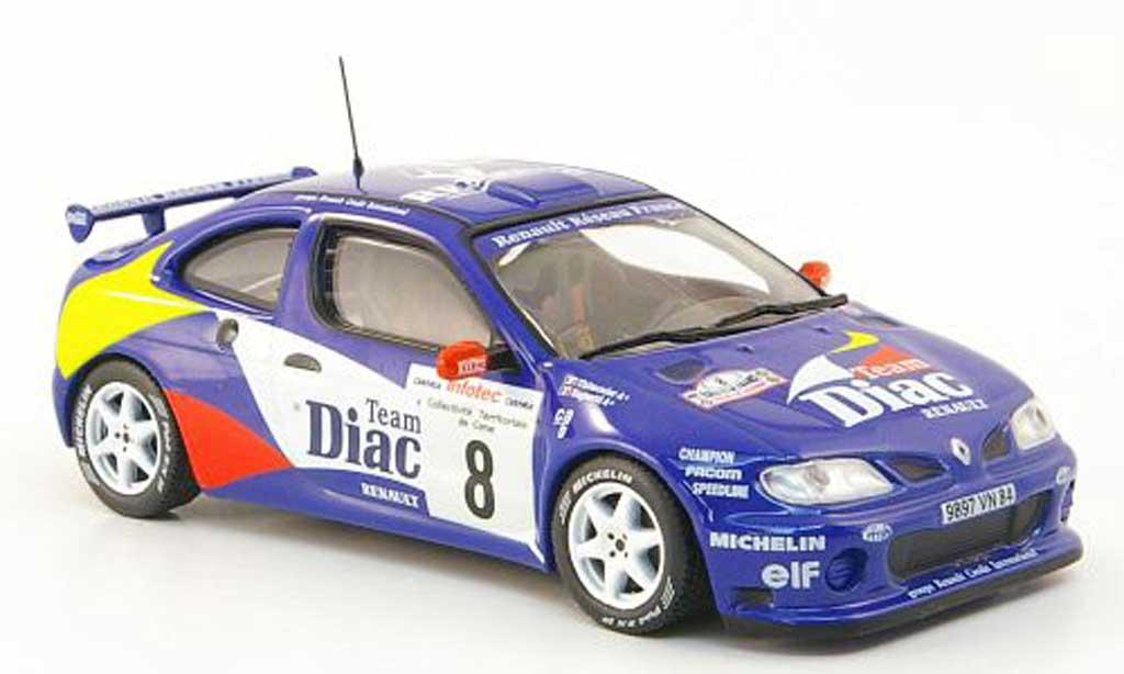 Renault Megane Maxi 1/43 Hachette No.8 Diac Tour de Corse 1996 miniature