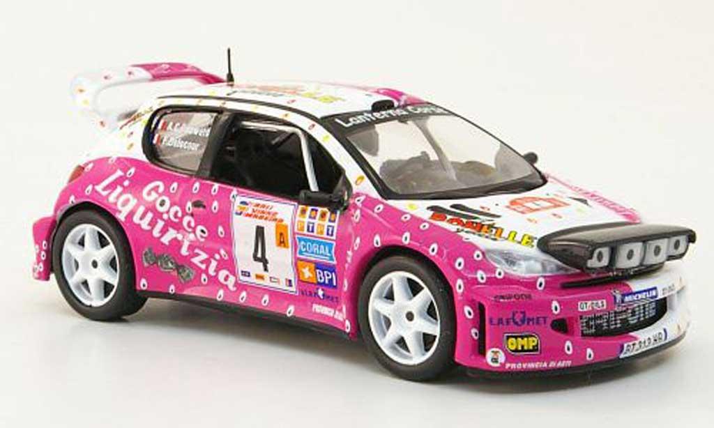 Peugeot 206 WRC 1/43 Hachette No.4 Bonelle Rally de Madeira 2003 miniature