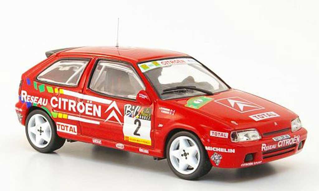 Citroen ZX Rallye 1994 1/43 Hachette 16V No.2 Reseau Rally du Rouerque miniature