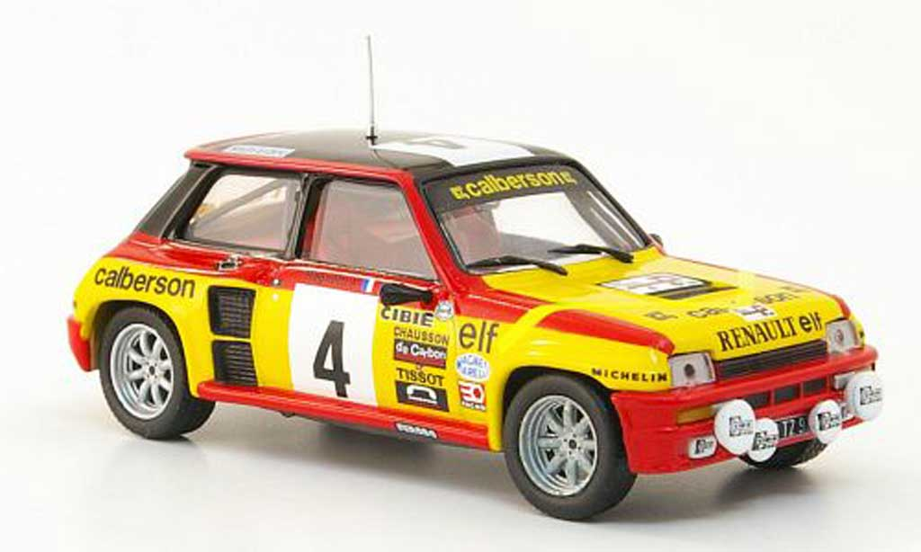 Renault 5 Turbo 1/43 Hachette No.4 Calberson Tour de France Automobile 1980 miniatura