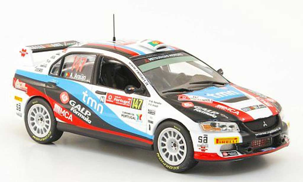 Mitsubishi Lancer Evolution IX 1/43 Hachette No.147 Rally Portugal 2009 miniature