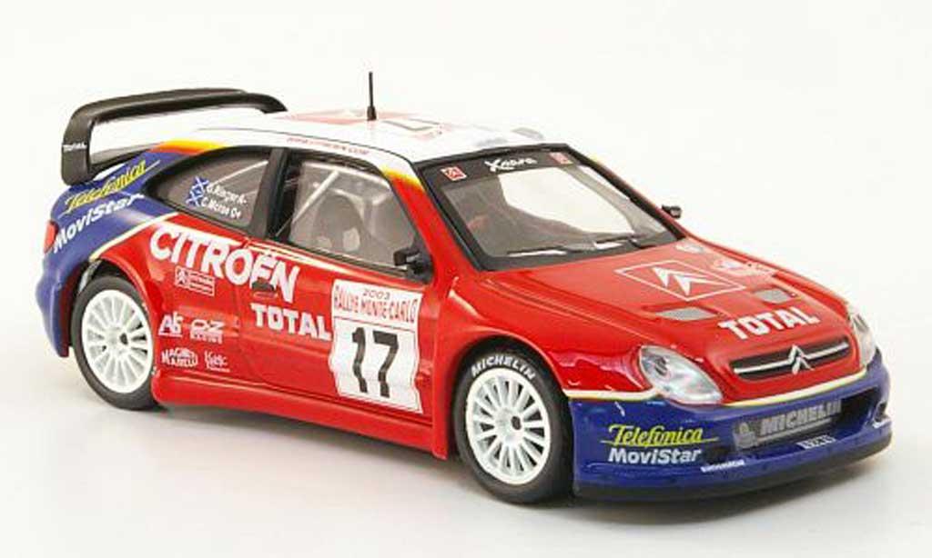 Citroen Xsara WRC 2003 1/43 Hachette No.17 Total Rally Monte Carlo miniature
