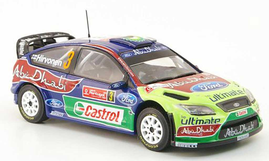 Ford Focus RS WRC 1/43 Hachette No.3 BP/Abu Dhabi Rally Portugal 2009 miniature