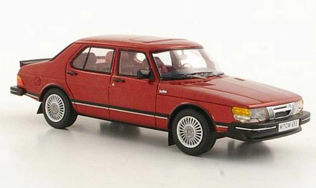 Saab 900 Turbo 1/43 Neo rouge 4-portes limited edition 1981 miniature