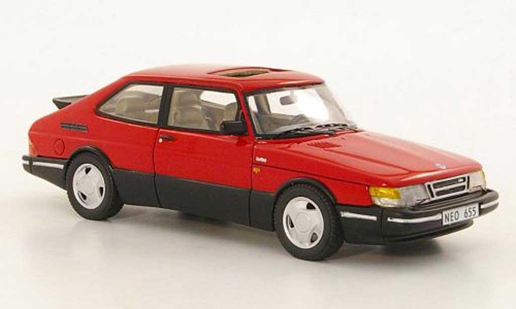 Saab 900 Turbo 1/43 Neo 16S Aero rouge  1992 miniature