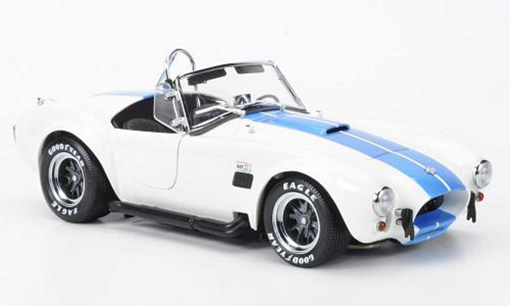 Shelby Ac Cobra 1/18 Kyosho 427 S/C blanche/bleu miniature