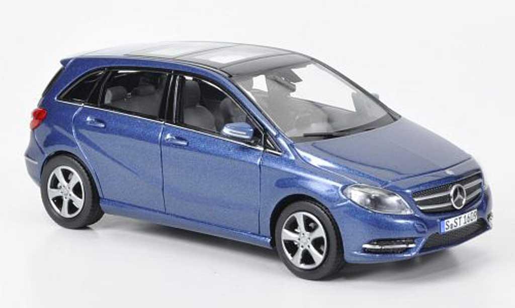 Mercedes Classe B 1/43 Norev B180 bleu 2011 miniature