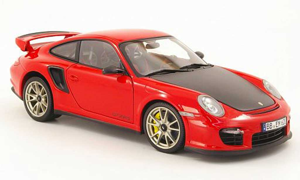 Porsche 997 GT2 RS 1/18 Minichamps 2010 red/carbon diecast model cars