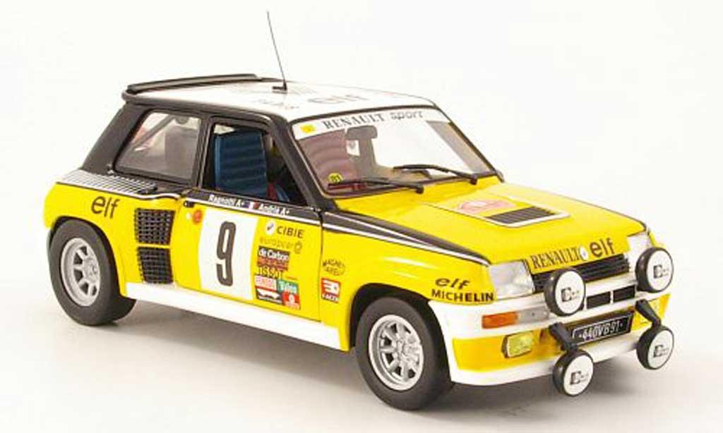 Renault 5 Turbo 1/18 Eagle no9 elf rallye monte carlo 1981 j.ragnotti / andrie coche miniatura