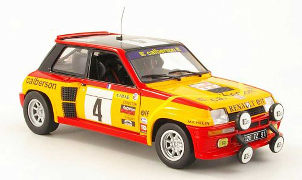 Renault 5 Turbo 1/18 Eagle no4 calberson tour de france auto 1980 j.ragnotti / andrie miniature