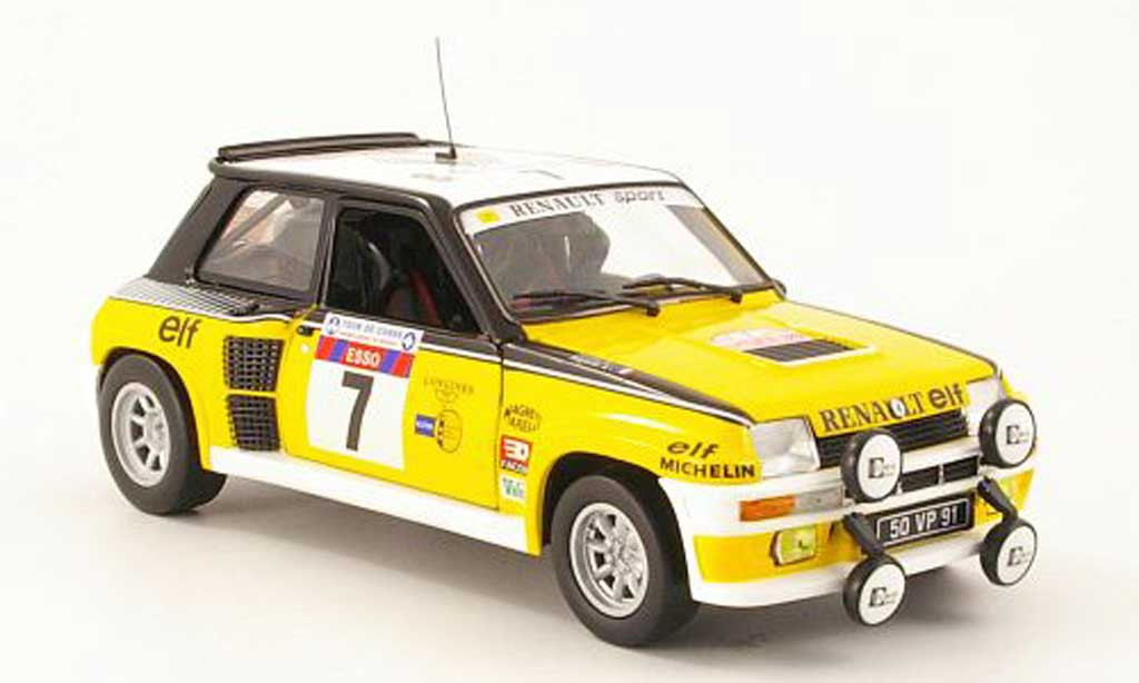 Renault 5 Turbo 1/18 Eagle no7 elf tour de corse 1982 j.ragnotti / andrie miniature