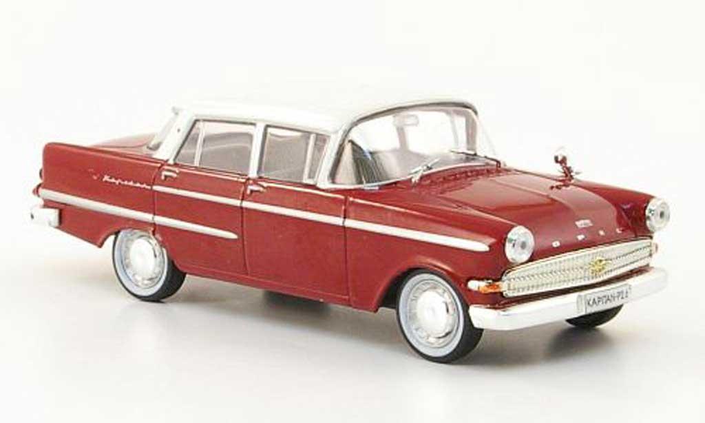 Opel Kapitan 1/43 Hachette P2.6 rouge/blanche (ohne Magazin) 1961 miniature