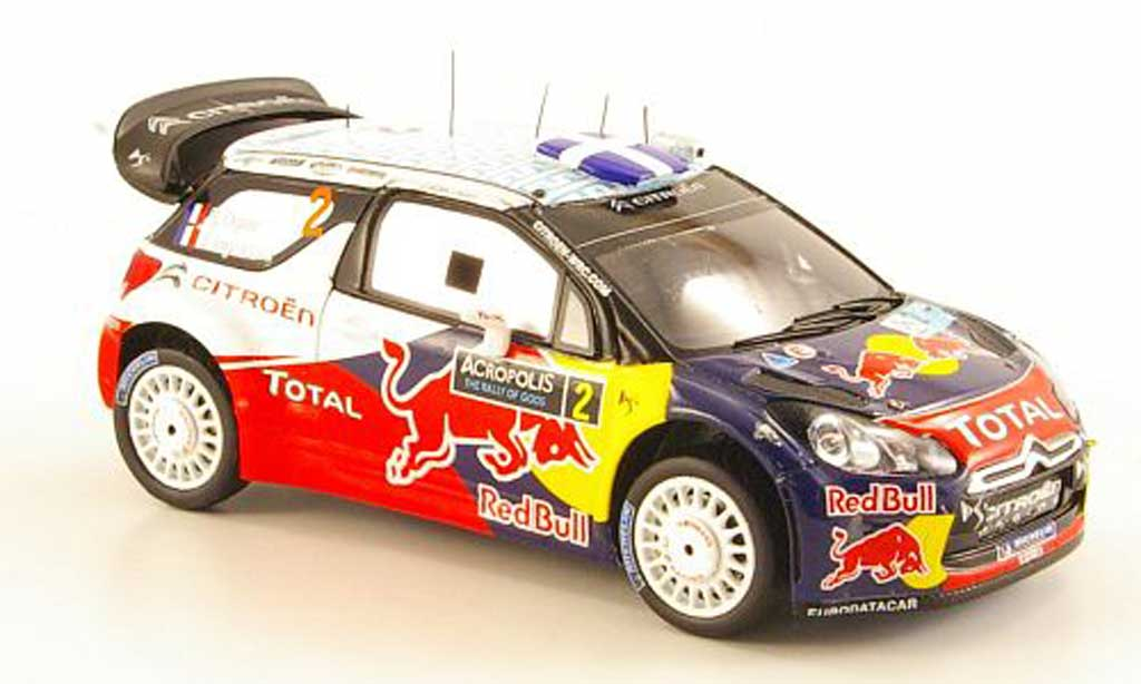 DS Automobiles DS3 WRC 2011 1/43 Spark WRC 2011 No.2 Red Bull Rally Acropolis miniature