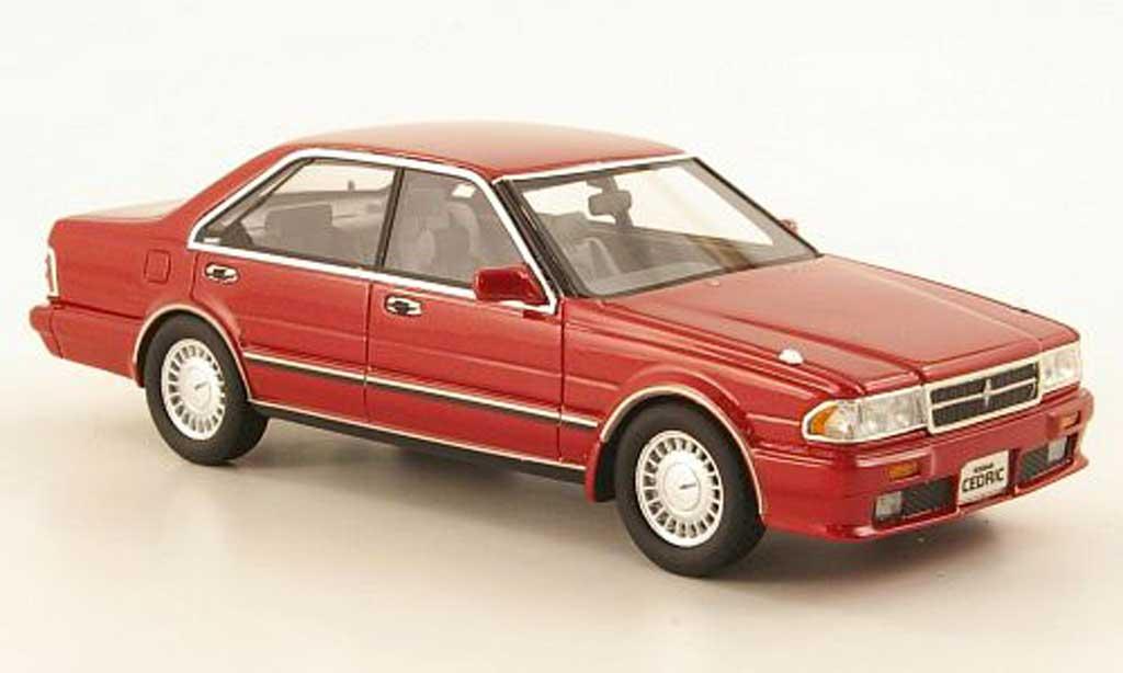 Nissan Cedric 1/43 Hi Story Gran Turismo SV (Y31) rouge RHD 1989 miniature