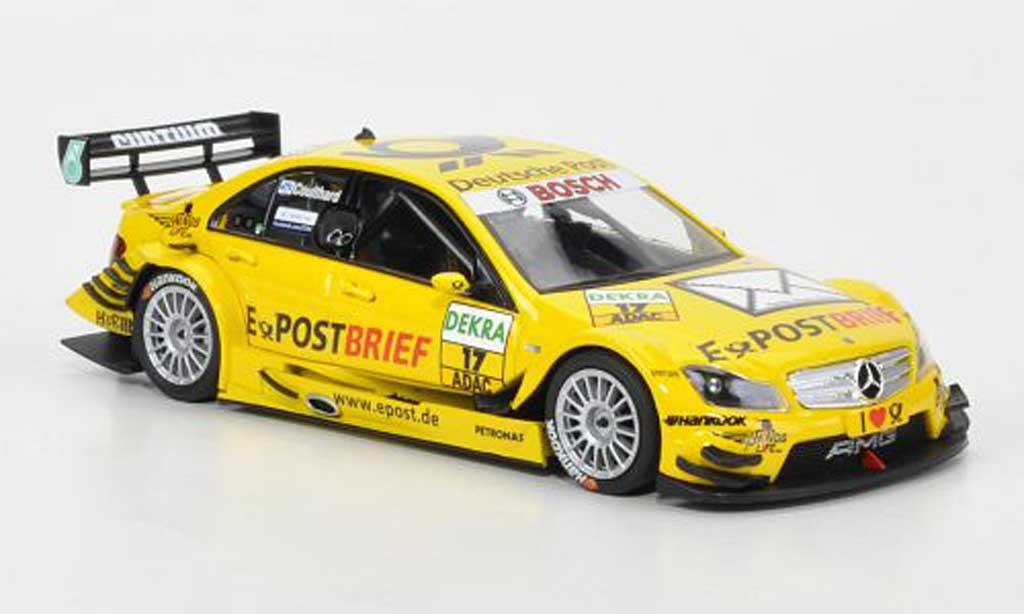 Mercedes Classe C 1/43 Minichamps DTM No.17 Team AMG-Mercedes-Deutsche Post D.Coulthard DTM Saison 2011 miniature
