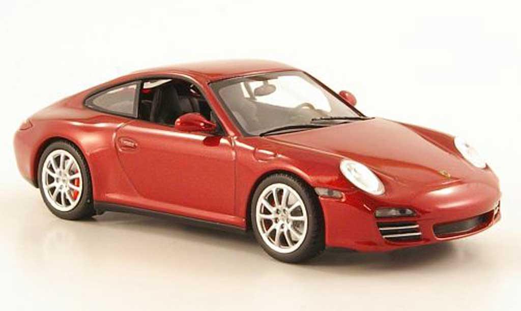Porsche 997 Carrera 1/43 Minichamps 4S (II) rouge 2008 miniature
