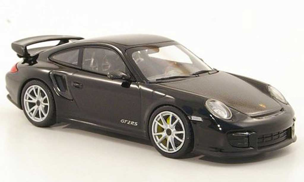 Porsche 997 GT2 RS 1/43 Minichamps 2010 (II) black/carbonoptik grey ne Felgen diecast model cars