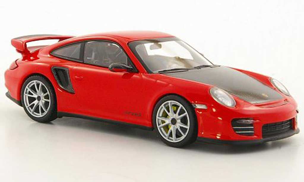 Porsche 997 GT2 RS 1/43 Minichamps 2010 (II) red/carbonoptik diecast model cars