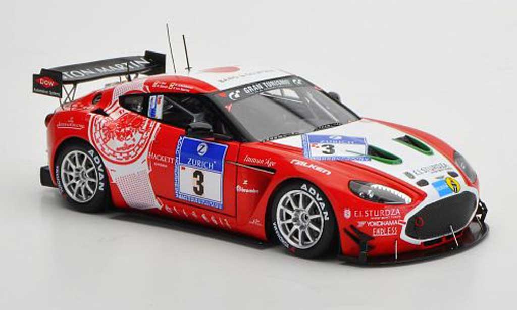 Aston Martin V12 Zagato 1/43 Minichamps No.3 24h Nurburgring 2011 miniature