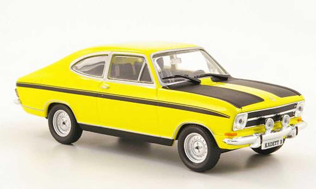 Opel Kadett B 1/43 Hachette Coupe jaune/noire (ohne Magazin) 1972 miniature